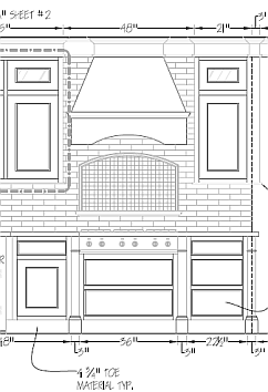 AutoCad Kitchen Elevation Drawing